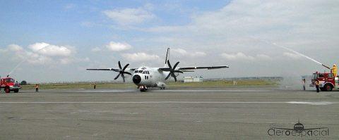 Arribo del primer avión Alenia C-27J a la Fuerza Aérea Mexicana