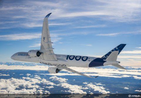 Primer vuelo del Airbus A350-1000