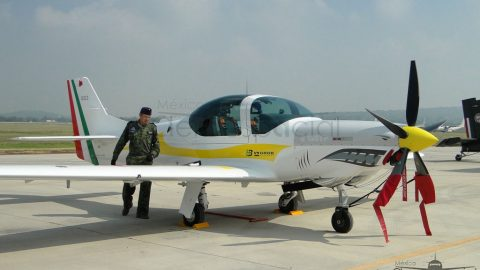 Avión de adiestramiento Grob 120TP para la Fuerza Aérea Mexicana
