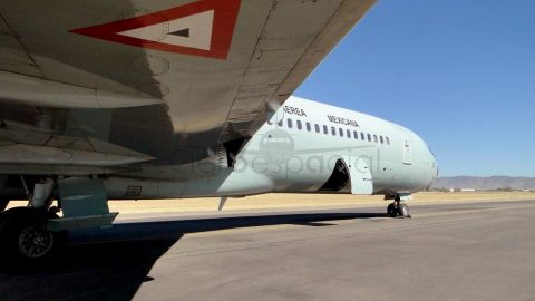El adiós del Boeing 727 de la Fuerza Aérea Mexicana