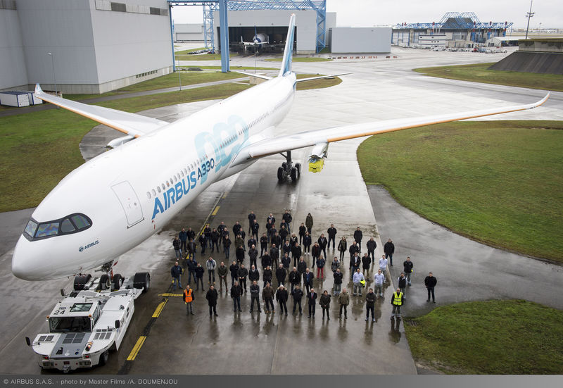 First_A330neo_Paint_shop_rollout_1