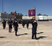 Ceremonia de graduación de la Escuela Militar de Mantenimiento y Abastecimiento.