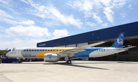 Embraer lanza el  E195-E2, el avión comercial de próxima generación más eficiente del mundo