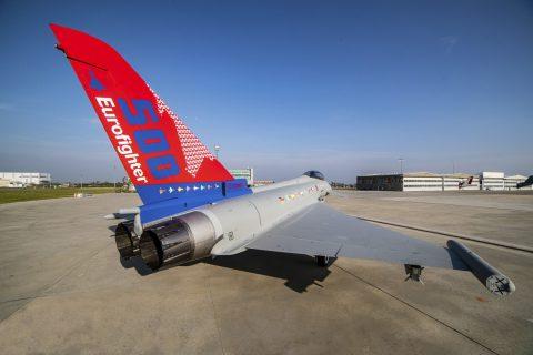 El Eurofighter Typhoon  numero 500 producido, fue entregado a la Fuerza Aérea Italiana