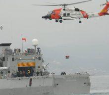 La Armada de México realiza ejercicios de búsqueda y rescate en conjunto con el servicio de guardacostas de los Estados Unidos en Ensenada, Baja California