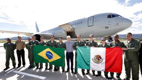 El  Boeing 767 de la Fuerza Aérea Brasileña aterriza en Chiapas