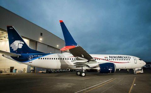 Aeroméxico recibe su primer Boeing 737 MAX 8
