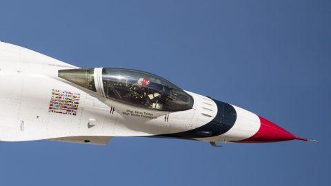 Se estrella un F-16C de los Thunderbirds