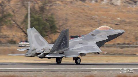 El F-22 y el F-35  en FIDAE