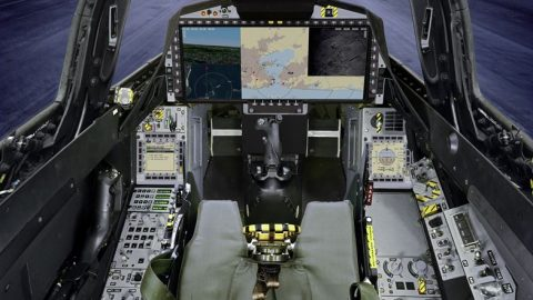 Saab presenta un simulador del Gripen E con pantalla panorámica
