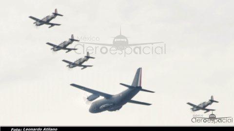 Aeronaves de la Fuerza Aérea y la Armada de México, sobre la CDMX