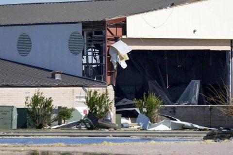 El huracán Michel daña aviones F-22 en Florida
